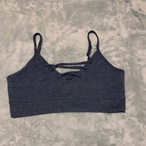 American Heritage lace up crop top